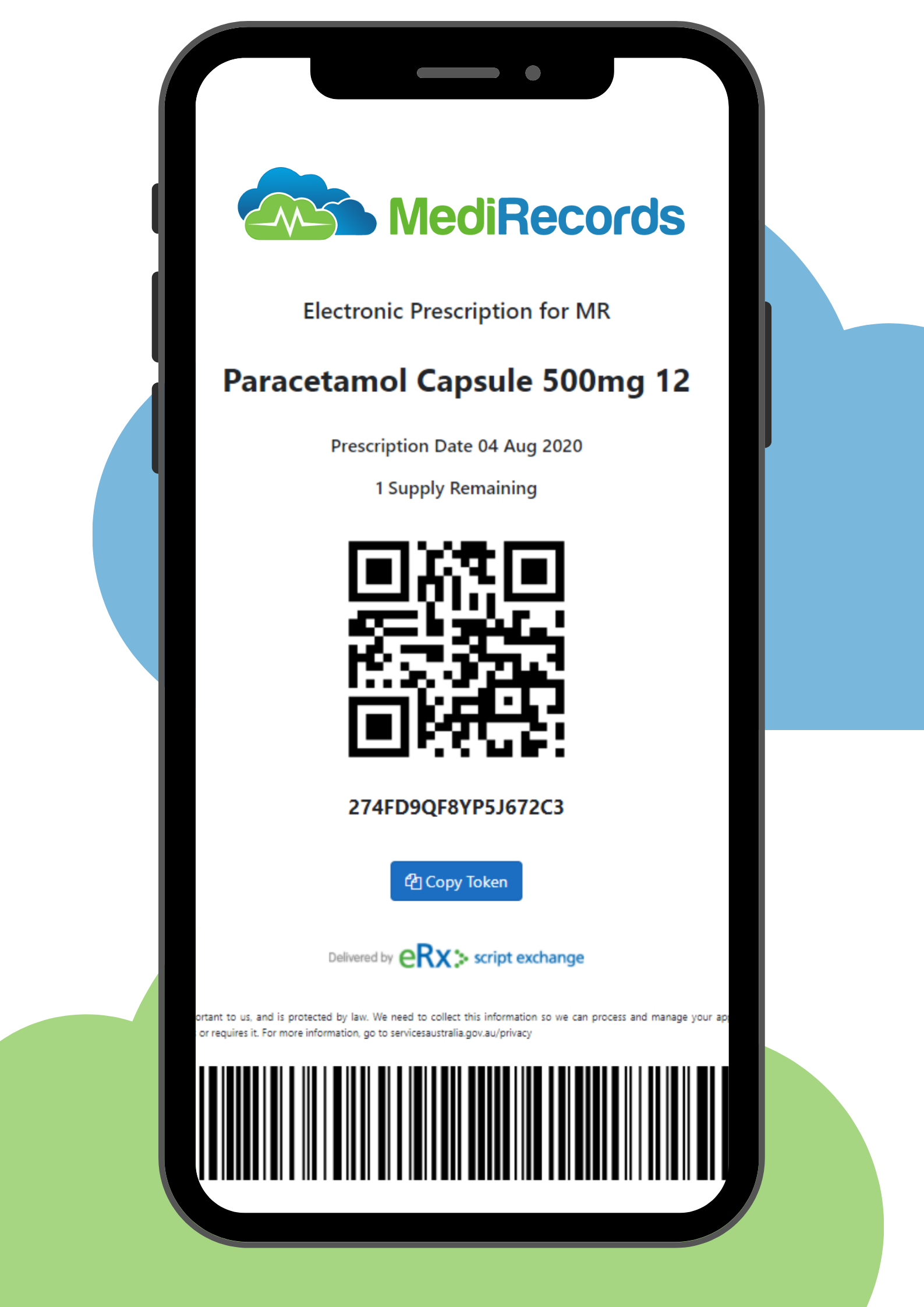 ePrescribing Token on Phone
